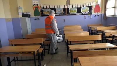 Gölbaşı'nda  tüm okullar dezenfekte edildi - ANKARA