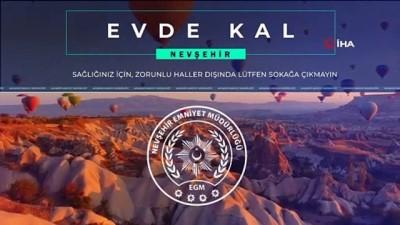 """Nevşehir Emniyet Müdürlüğü'nden """"Evde kal"""" klibi"""