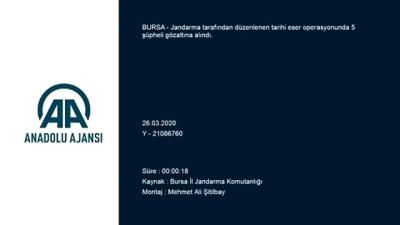 Tarihi eser operasyonu: 5 gözaltı - BURSA