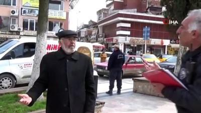 Düzce polisin 82 yaşındaki yaşlı vatandaşla imtihanı