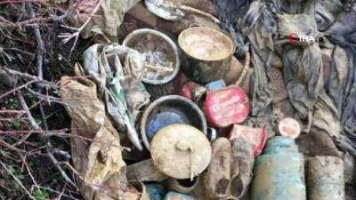 Bitlis'te BTÖ terör örgütüne ait araziye gizlenmiş yaşam malzemesi ele geçirildi