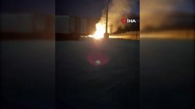 Ağrı'da doğalgaz boru hattı patladı