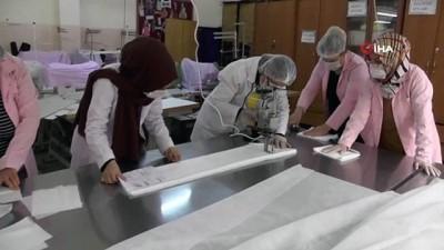 Besni'de maske üretimi başladı