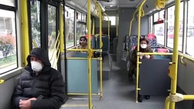 """İstanbul'da otobüs şoföründen ilginç """"korona virüs"""" önlemi"""