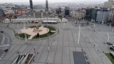Taksim Meydanı'nda 'koronavirüs sessizliği' - İSTANBUL