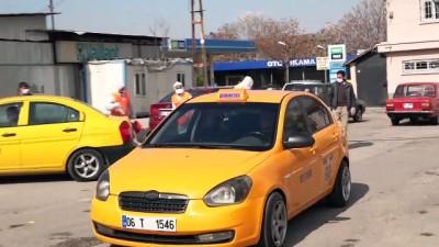 Başkentte taksi ve servis araçları için dezenfeksiyon istasyonu kuruldu - ANKARA