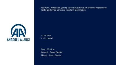 Antalya'daki kontrol noktalarında 'Kovid-19' denetimi yapılıyor