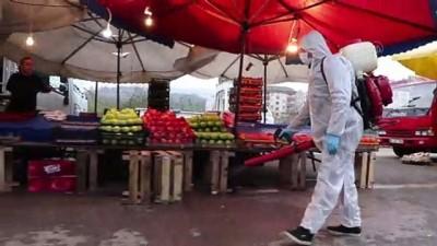 Akçakoca Belediyesinin koronavirüs önlemleri sürüyor - DÜZCE
