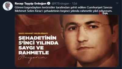 Cumhurbaşkanı Erdoğan'dan Cumhuriyet Savcısı Mehmet Selim Kiraz paylaşımı