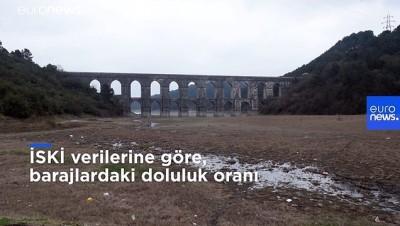 İstanbul'a su sağlayan barajların doluluk oranı son 10 yılın en düşük seviyelerinde