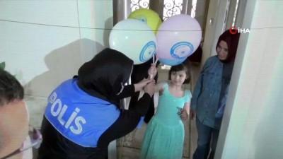 Şehit polis çocuklarına 23 Nisan sürprizi