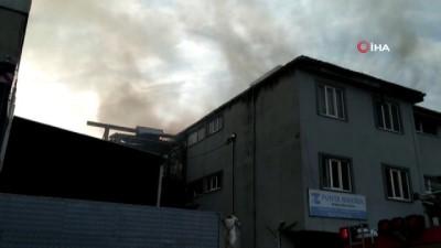 Esenyurt Selahattin Eyyubi mahallesinde 3 katlı iş yerinde yangın