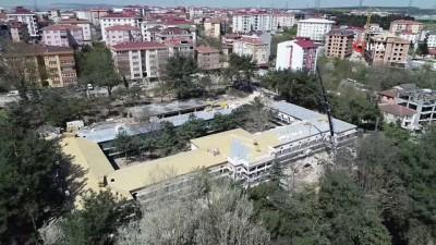 Hadımköy Askeri Hastanesi restorasyonunun yüzde 50'si tamamlandı