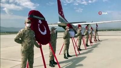 Şehit Güneş'in naaşı Elazığ'dan Ankara'ya uğurlandı