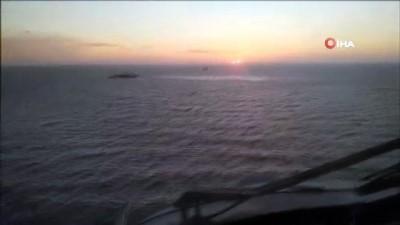 FREDERICTON Fırkateyni'nin helikopterini ve mürettebatını arama-kurtarma çalışması sürüyor