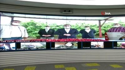 Bakan Pakdemirli video konferansla kiraz hasadına katıldı
