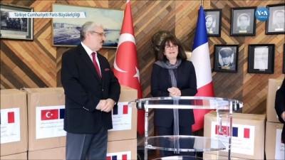 Türkiye'den Fransa'ya Tıbbi Malzeme Yardımı