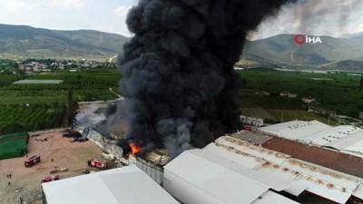 Bursa'da soğuk hava deposundaki yangın kontrol altına alındı