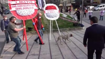Zonguldak'ta 1 Mayıs koronavirüs gölgesinde kutlandı