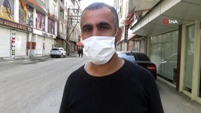 Yüksekova'da sokağa çıkma kısıtlamasının birinci gününde sokaklar bomboş