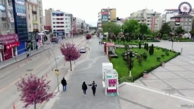 Kovid-19 tedbirleri ile sokağa çıkma yasağına uymayanlara ceza - ERZURUM