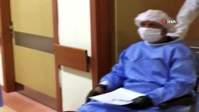 Covid-19 hastası KEA Hastanesi'nden alkışlarla taburcu edildi