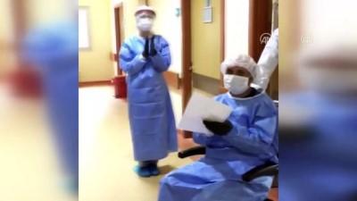 Kırşehir'de Kovid-19 tedavisi tamamlanan hasta alkışlarla taburcu edildi