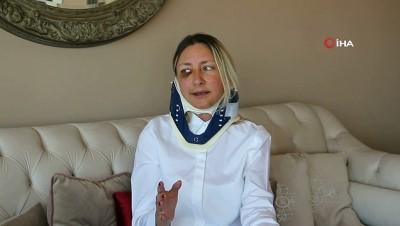 Kuşadası'nda saldırıya uğrayan kadın banka müdürü konuştu