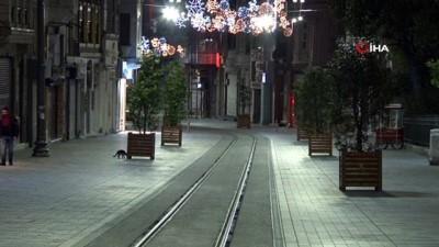 Sokağa çıkma kısıtlaması başladı, İstiklal Caddesi sessizliğe büründü