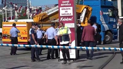 İstiklal Caddesi'nde zabıtalar arasında gerginlik