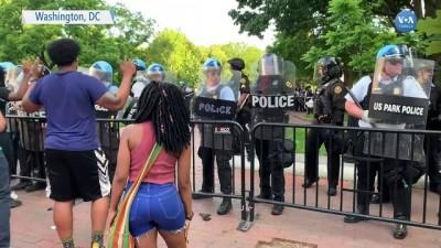 Beyaz Saray Önündeki Protestoda Gergin Anlar