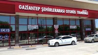 Gaziantep Otogarı'nda terhis sevinci