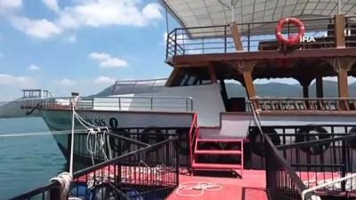 Kozan Barajında tekne keyfi başlıyor