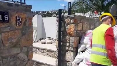 Yılmaz Özdil'in evindeki kaçak bölümlerin yıkımı devam ediyor