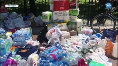 Protestocular İçin Su ve Yiyecek Standı Bağışlarla Genişliyor
