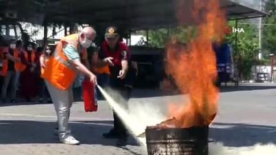 Aydın'da AFAD gönüllülerine yangın eğitimi verildi