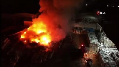 Manisa Muradiye OSB'de fabrika yangını