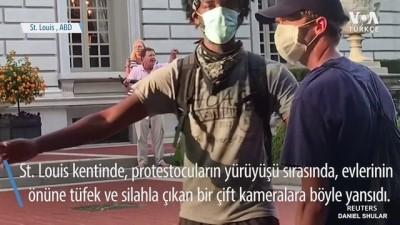 ABD'de Protestoculara Silah Doğrulttular