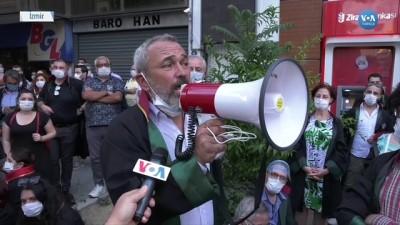 Baro Yürüyüşüne İzin Verilmedi Avukatlar Oturma Eylemi Yaptı