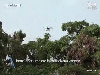 Çekirgelerle Mücadelede Drone'lar Devrede