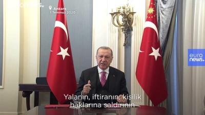 Erdoğan'dan sosyal medya açıklaması : Erişim engeli ile adli ve mali yaptırımlar devreye sokulacak