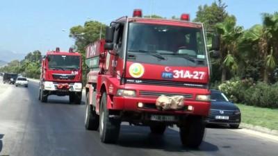 Hatay'da 4 farklı noktada çıkan orman yangınına müdahale ediliyor (2)