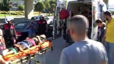 Kağıthane'de film sahnelerini aratmayan motosiklet kazası: 2 yaralı