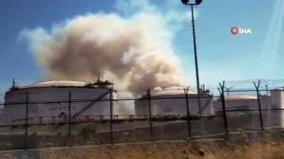Star Rafineri içerisindeki yangında zarar büyük