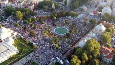Ayasofya'da 86 yıl sonra bayram namazı coşkusu