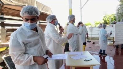 Kurban kesim alanında koronavirüs tedbirleri - NEVŞEHİR