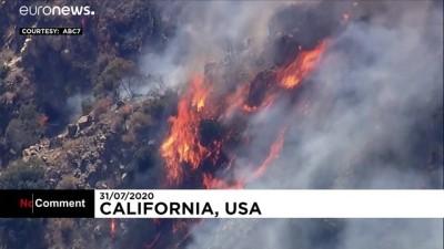 Video | Kaliforniya'daki Angeles Ulusal Parkı'nda yangın söndürme çalışmaları sürüyor