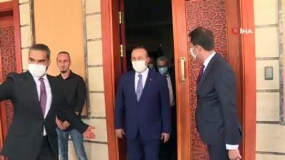 - Bakan Çavuşoğlu Libya UMH Başkanı Serrac ile görüştü