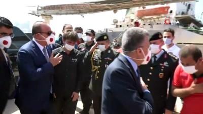 - Cumhurbaşkanı Yardımcısı Oktay ve Bakan Çavuşoğlu, patlamanın meydana geldiği alanı ziyaret etti