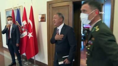 Milli Savunma Bakanı Akar, Libya Ulusal Mutabakat Hükümeti Başkanlık Konseyi Başkan Yardımcısı Maiteek ile görüştü